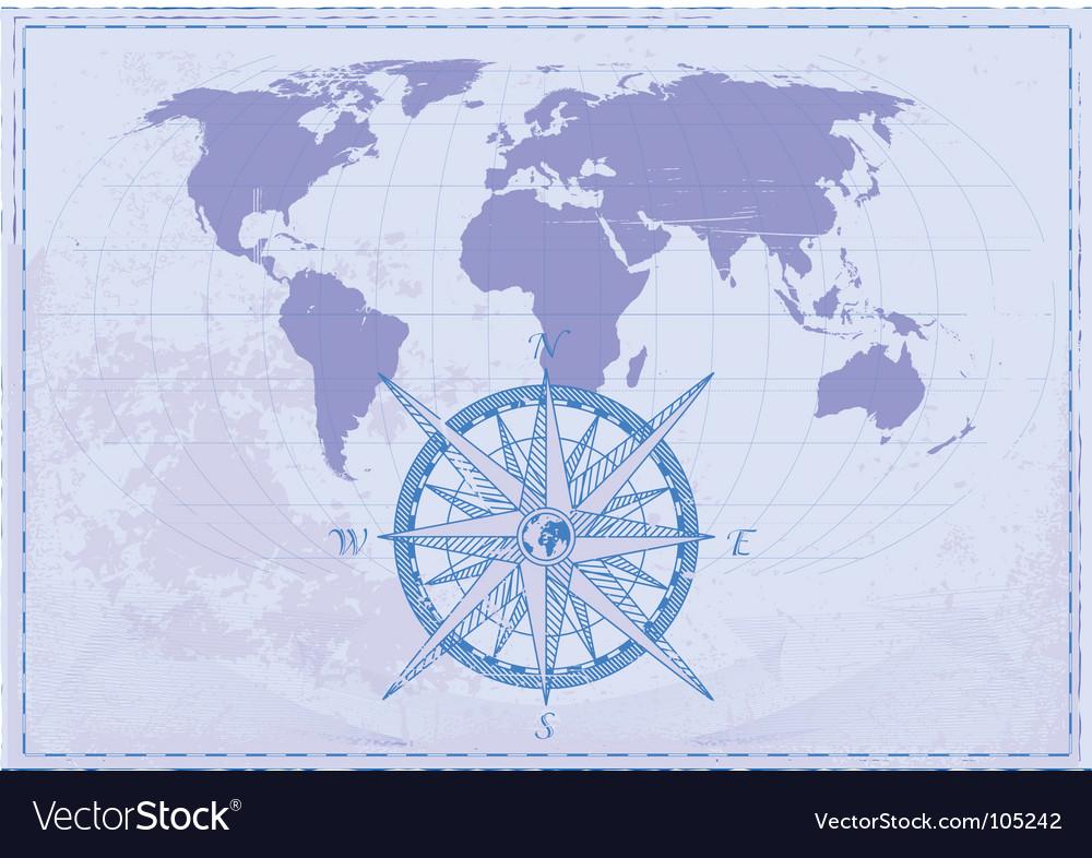 Vintage map vector