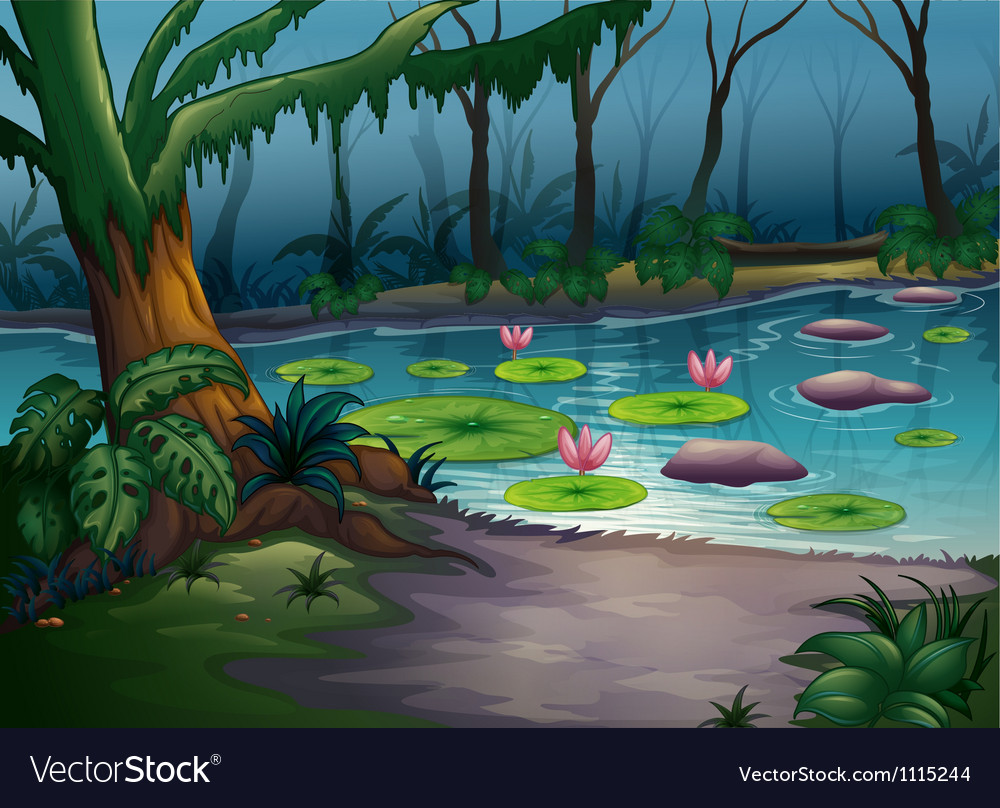A river in a beautiful nature vector