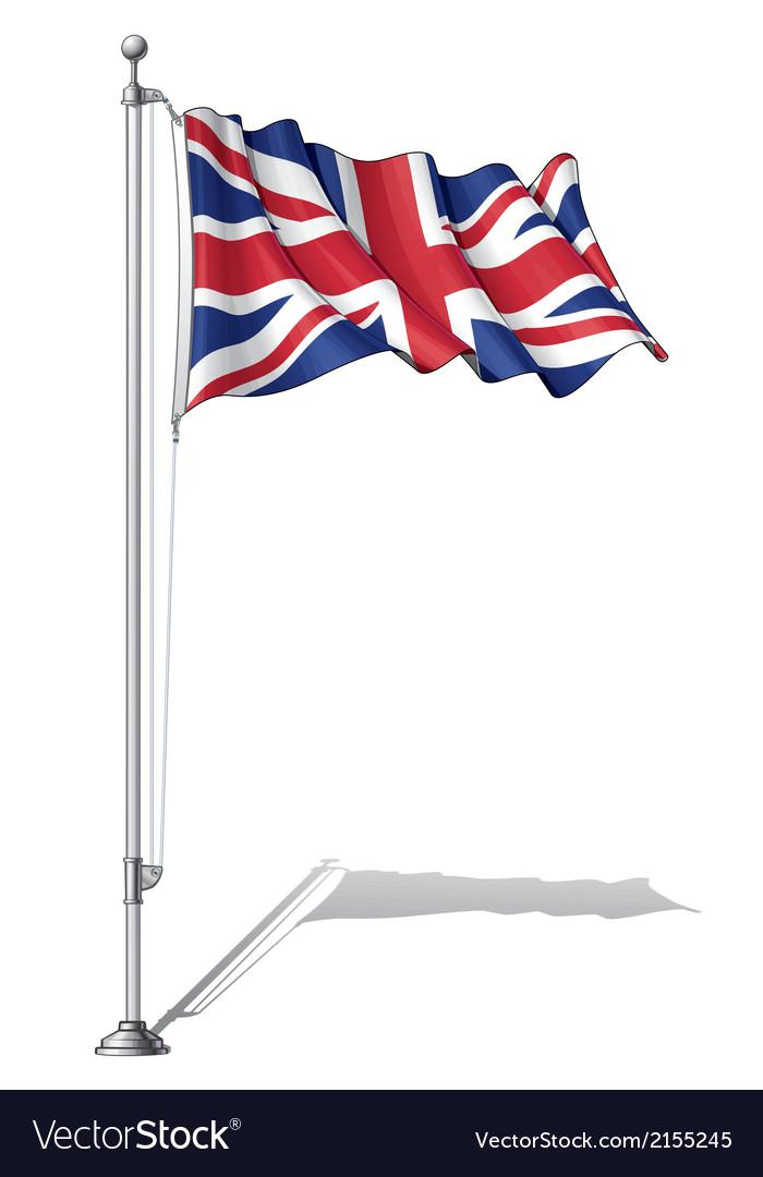 Flag pole uk vector