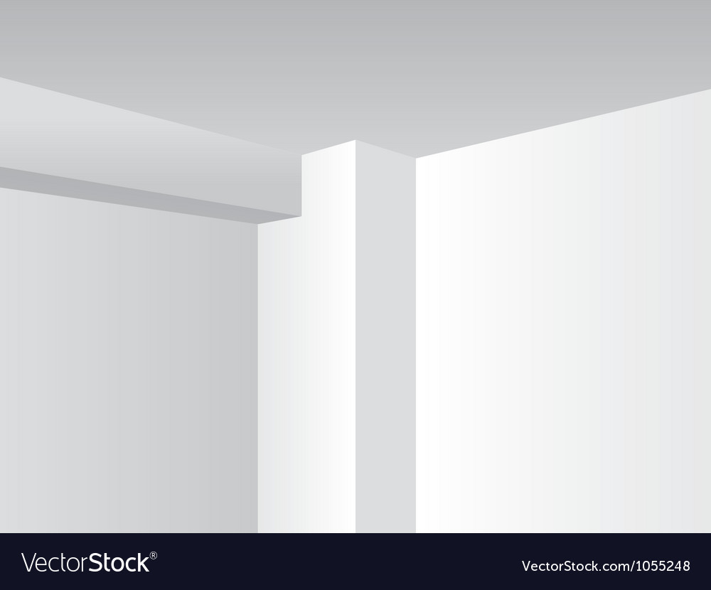 Corner walls vector