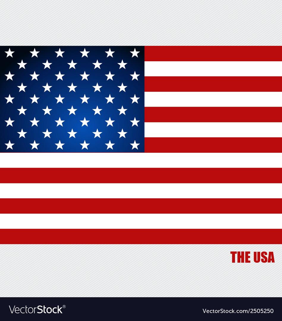 American flag flags concept design vector