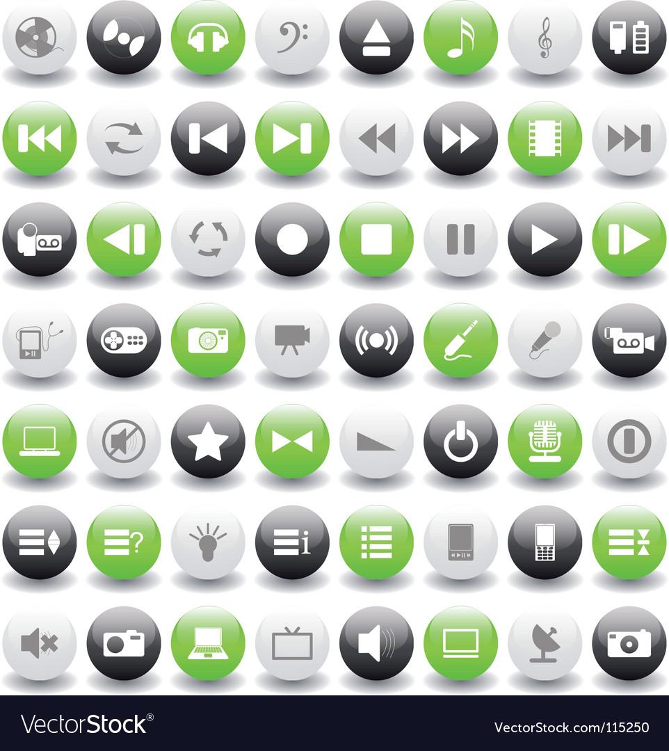 Musical icon set vector