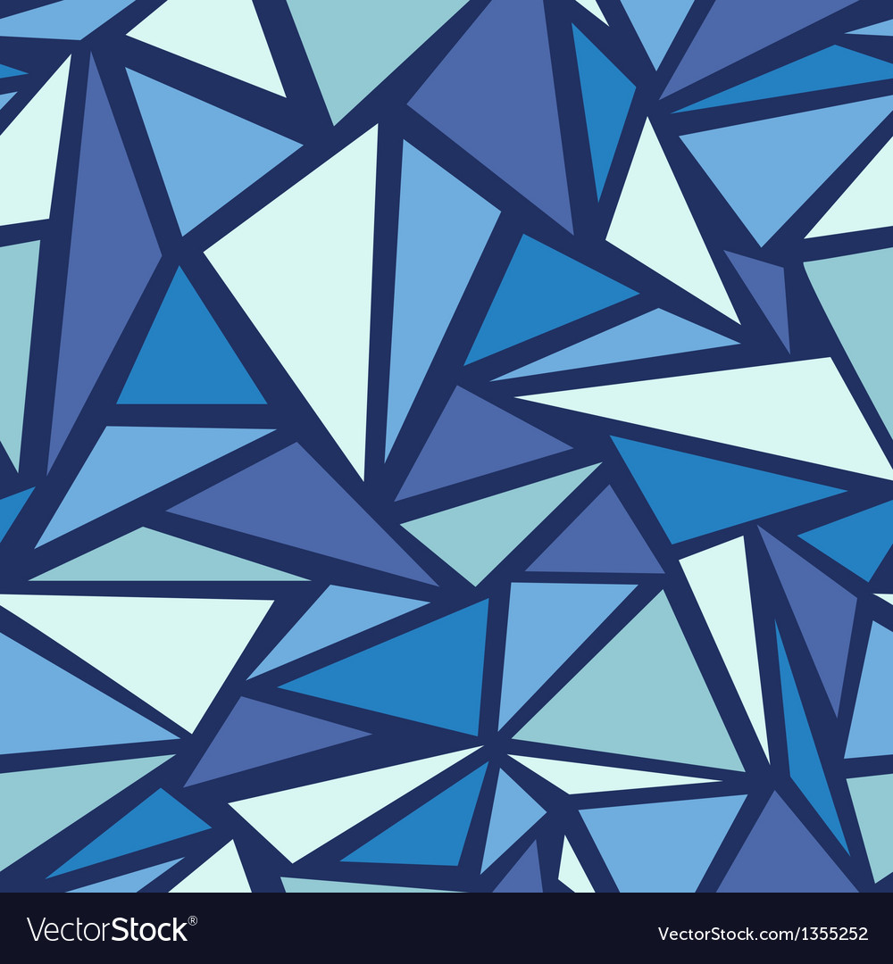 Abstract ice chrystals seamless pattern background vector