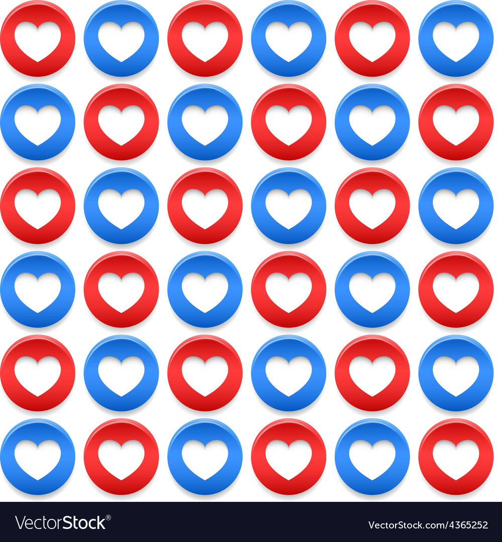 Seamless pattern with circles and hearts vector
