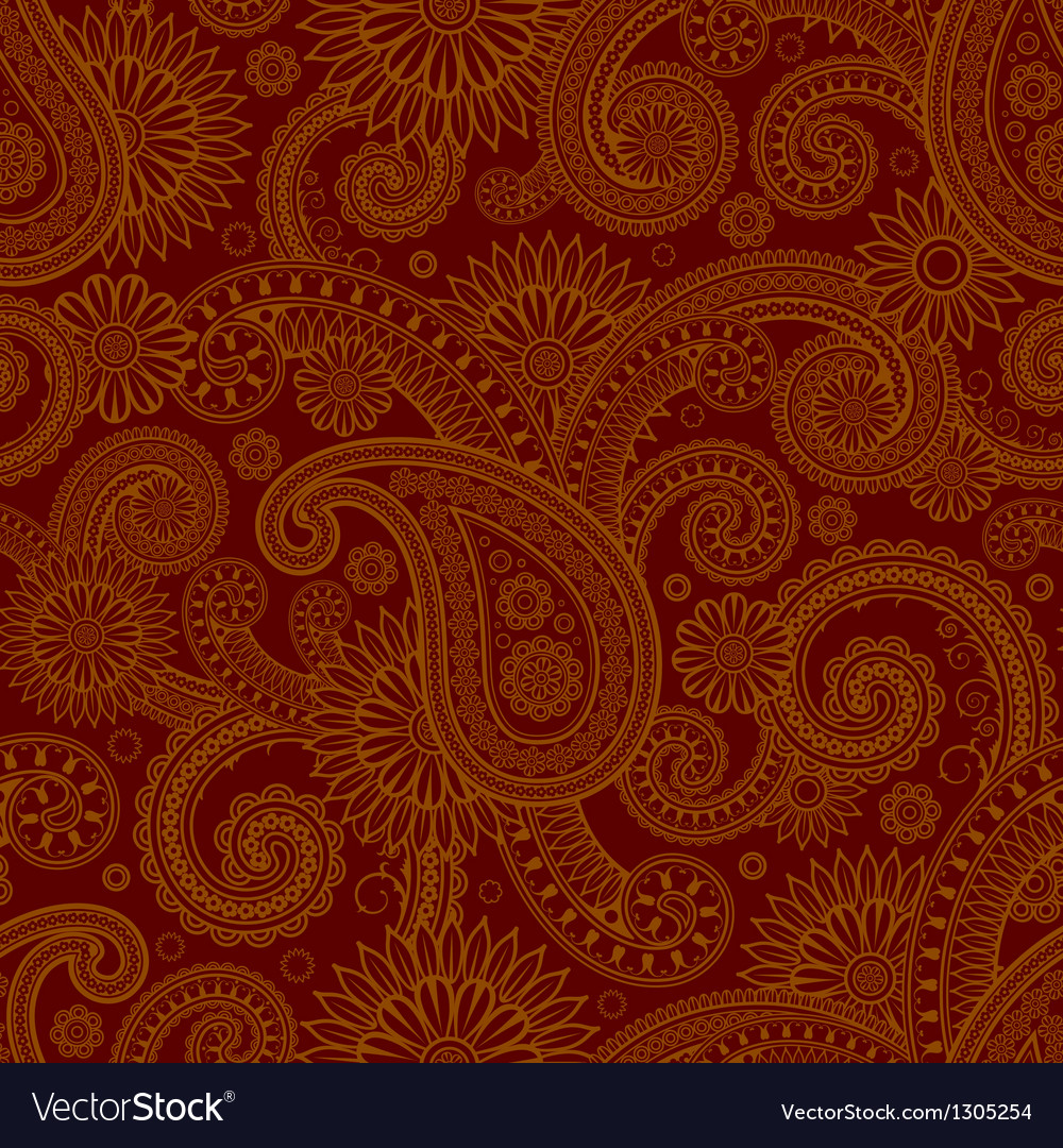 Various colors of damask style pattern design vector