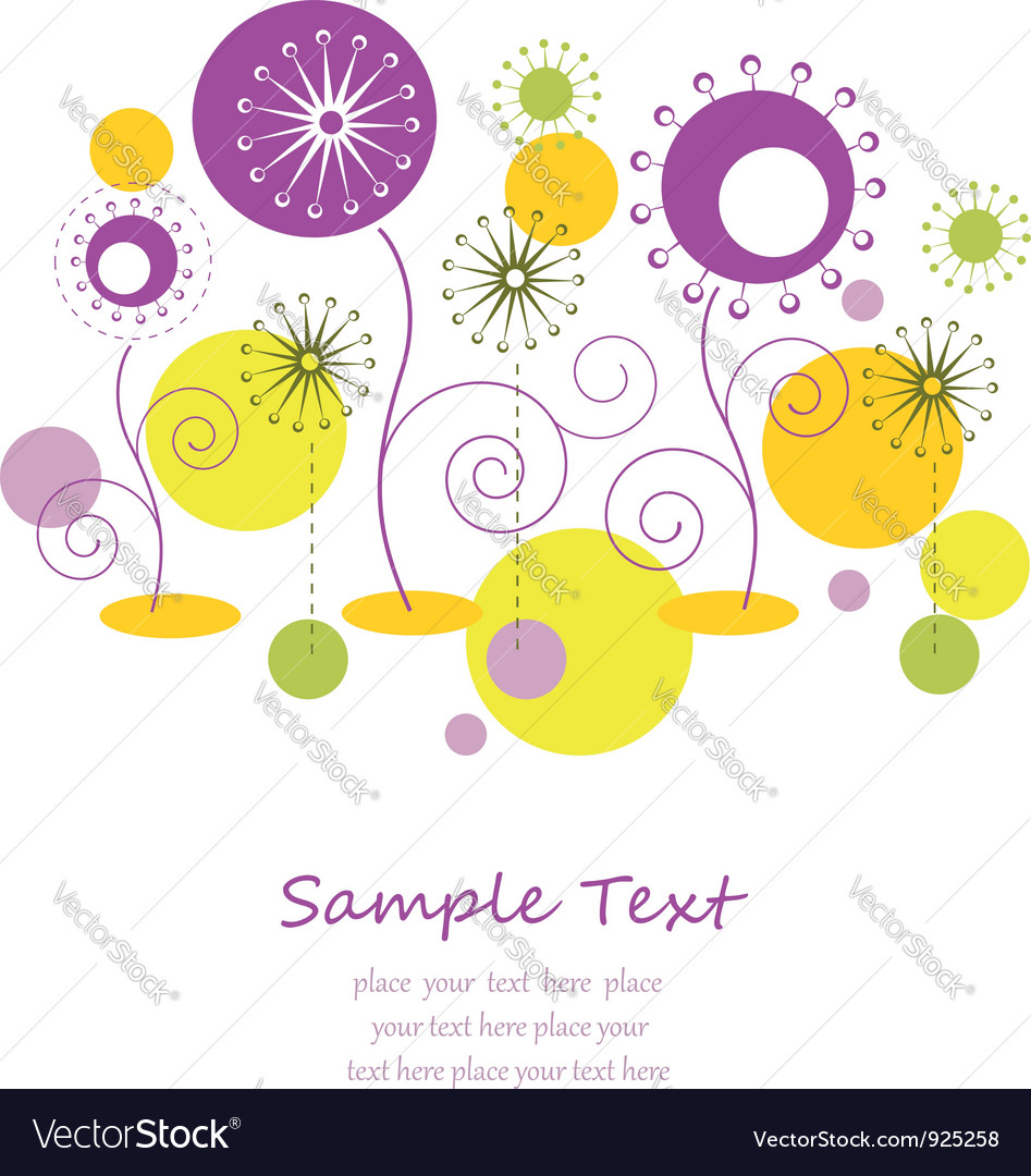 Abstract autumn floral background vector