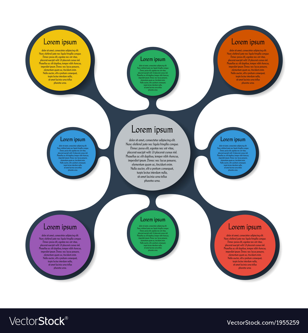 Metaball template colorful round diagram vector