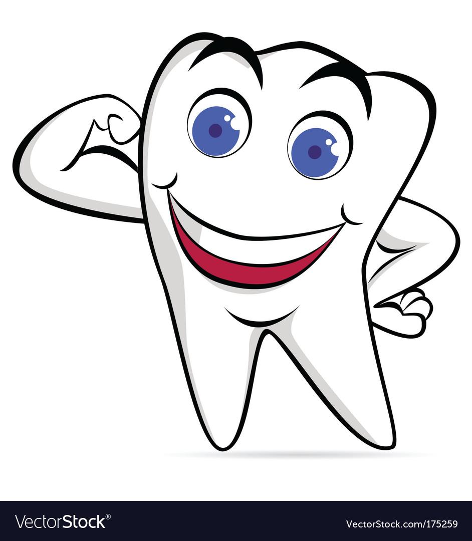 Tooth cartoon vector