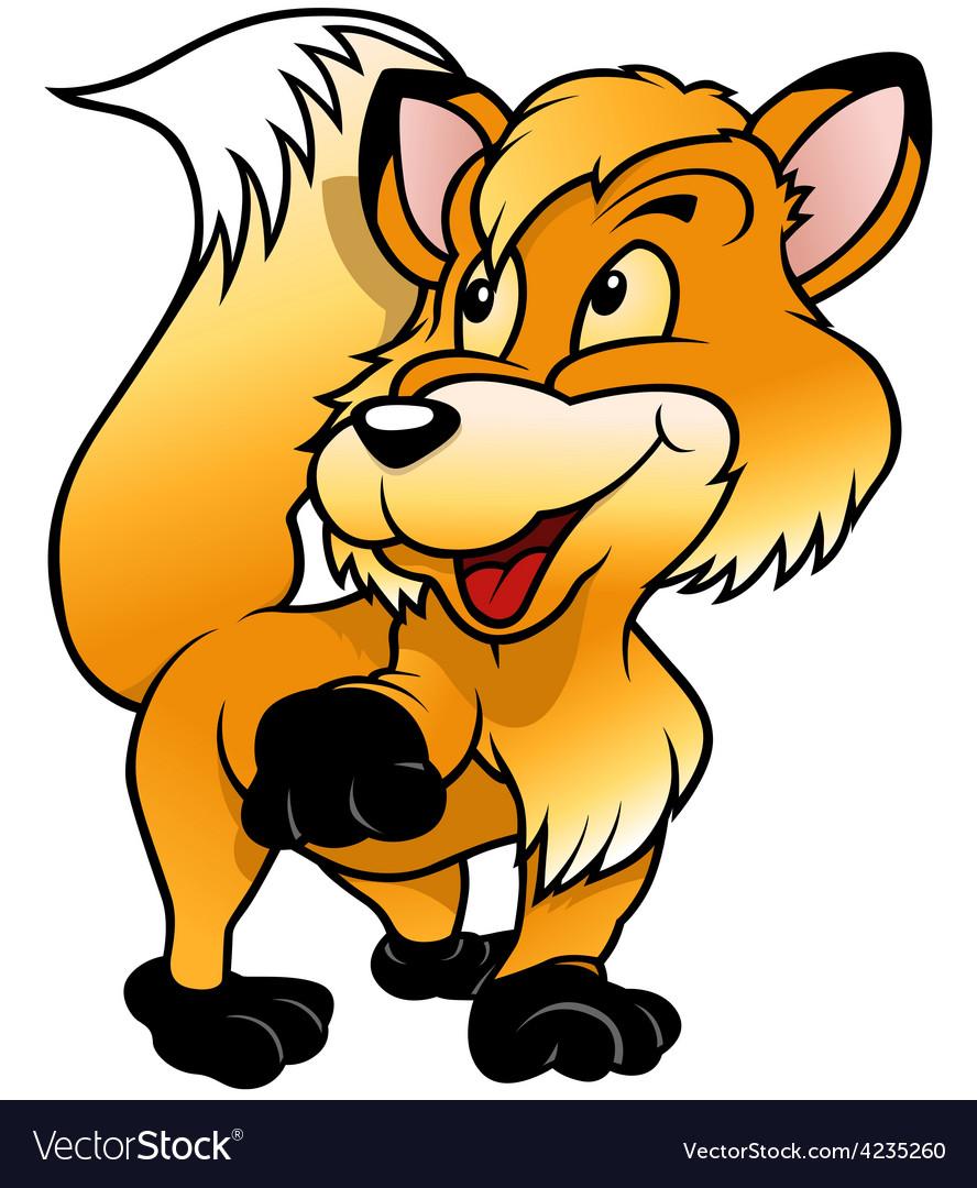 Fox raising paw vector