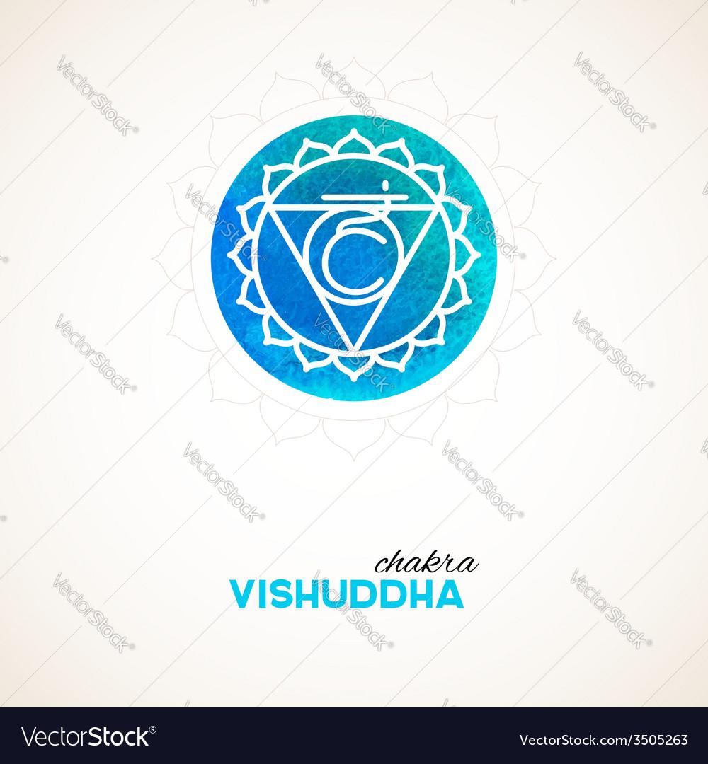 Color chakra watercolor design vector