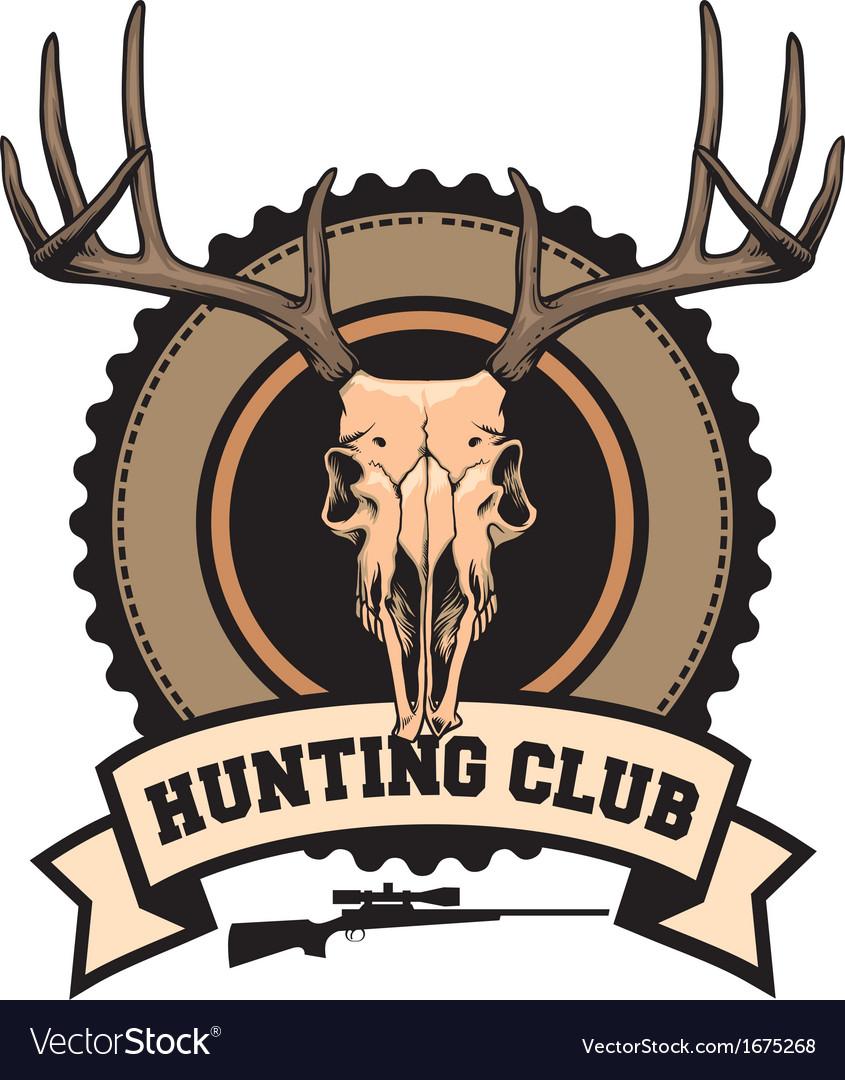 Hunting club design vector