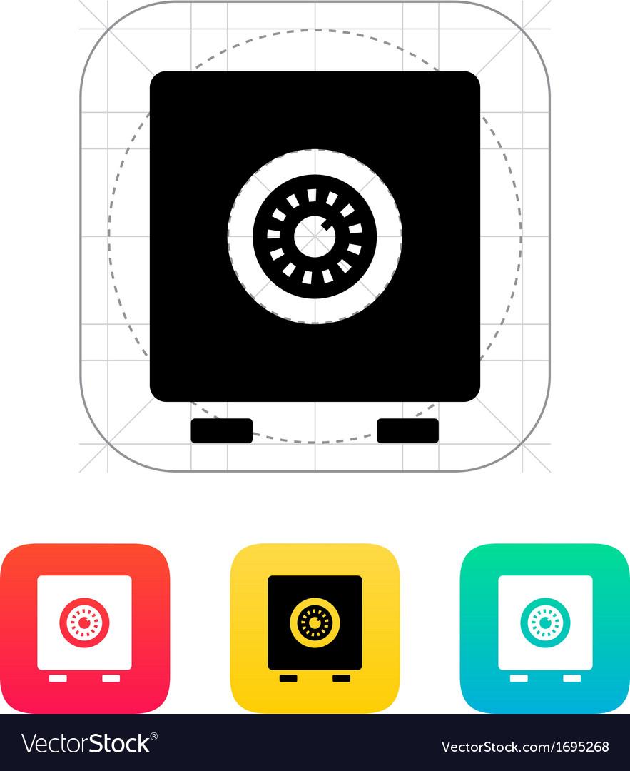 Strongbox icon vector