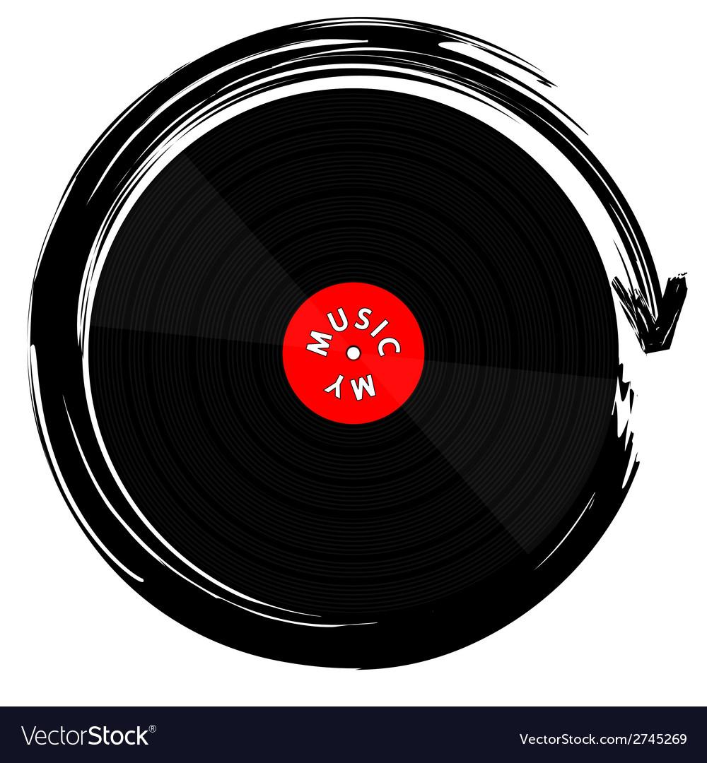 Vinyl record-lp vector