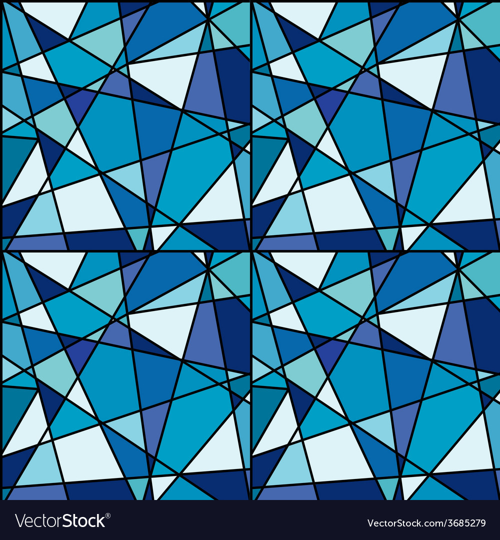 Seamless background with blue mosaic made of vector
