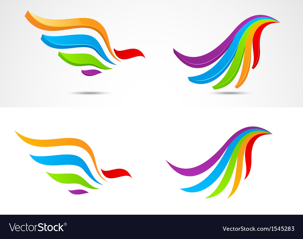 Eagle icon collection vector