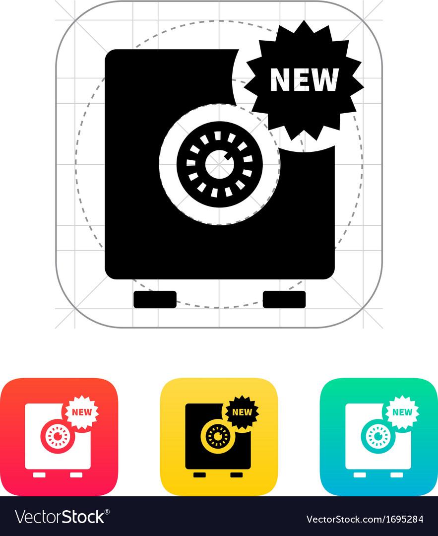 New strongbox icon vector