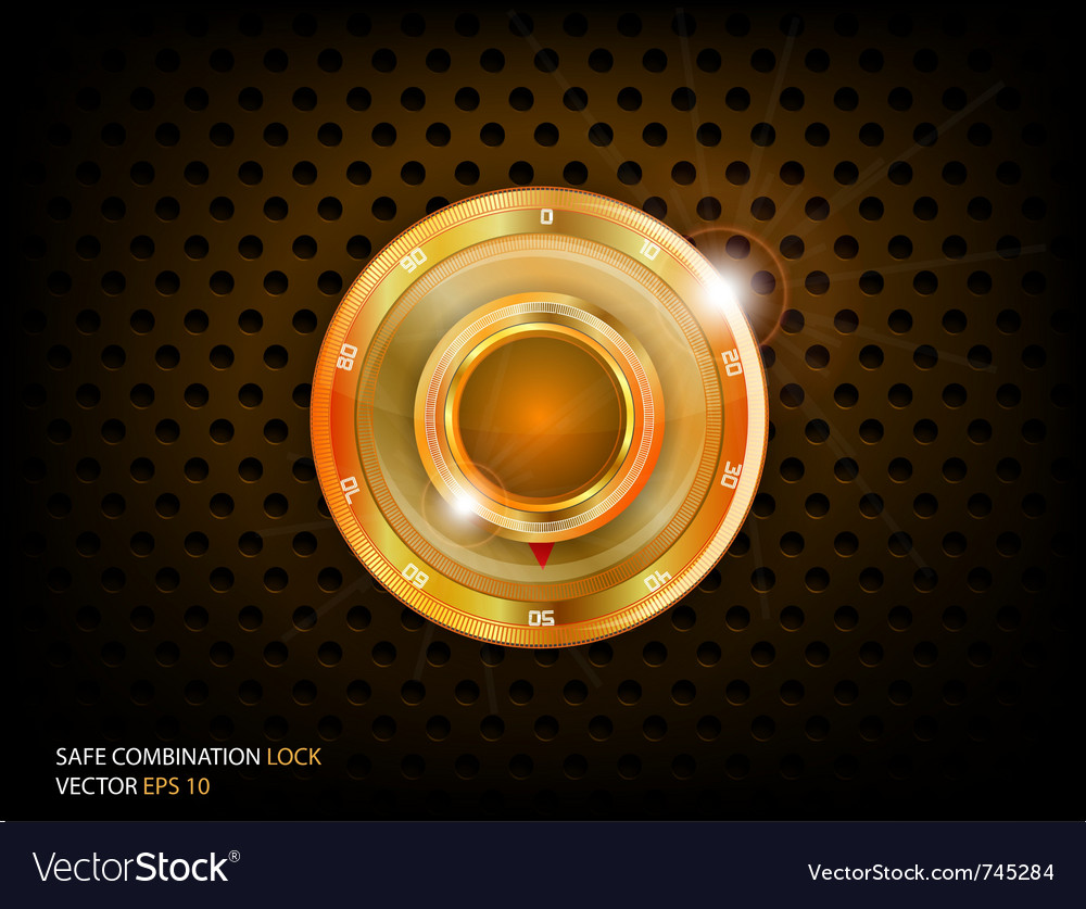Safe gold combination vector