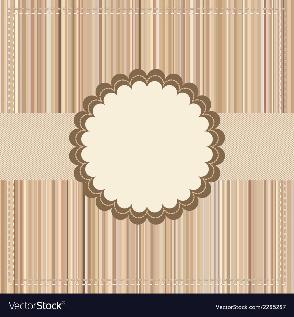 Vintage card or package design eps 8 vector
