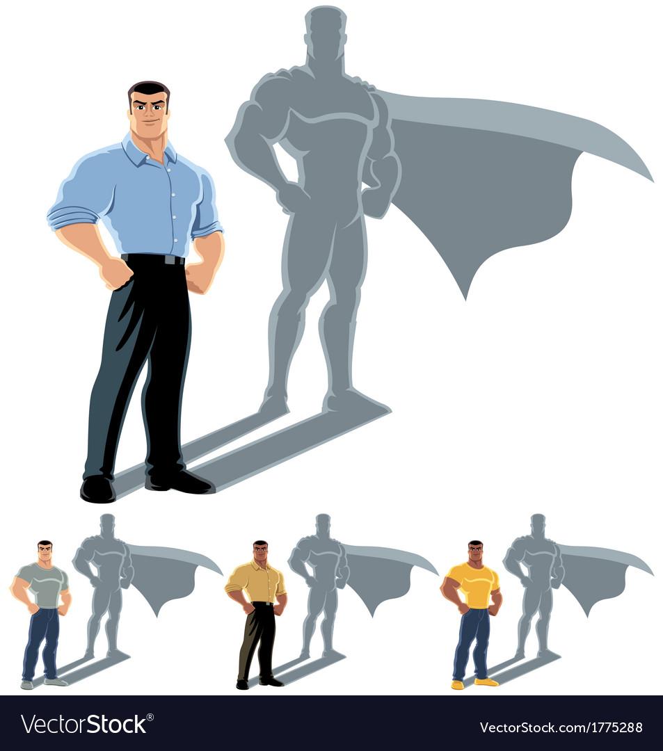 Man superhero concept vector