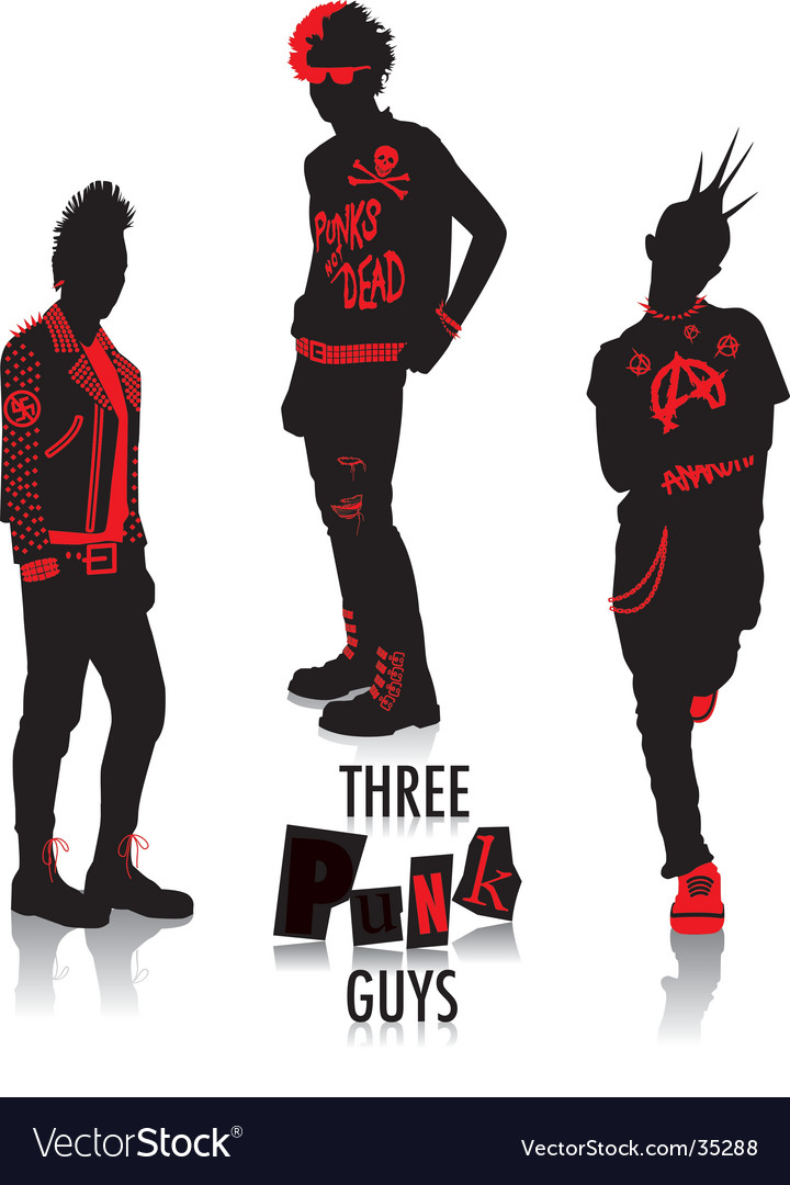 Punk silhouettes vector