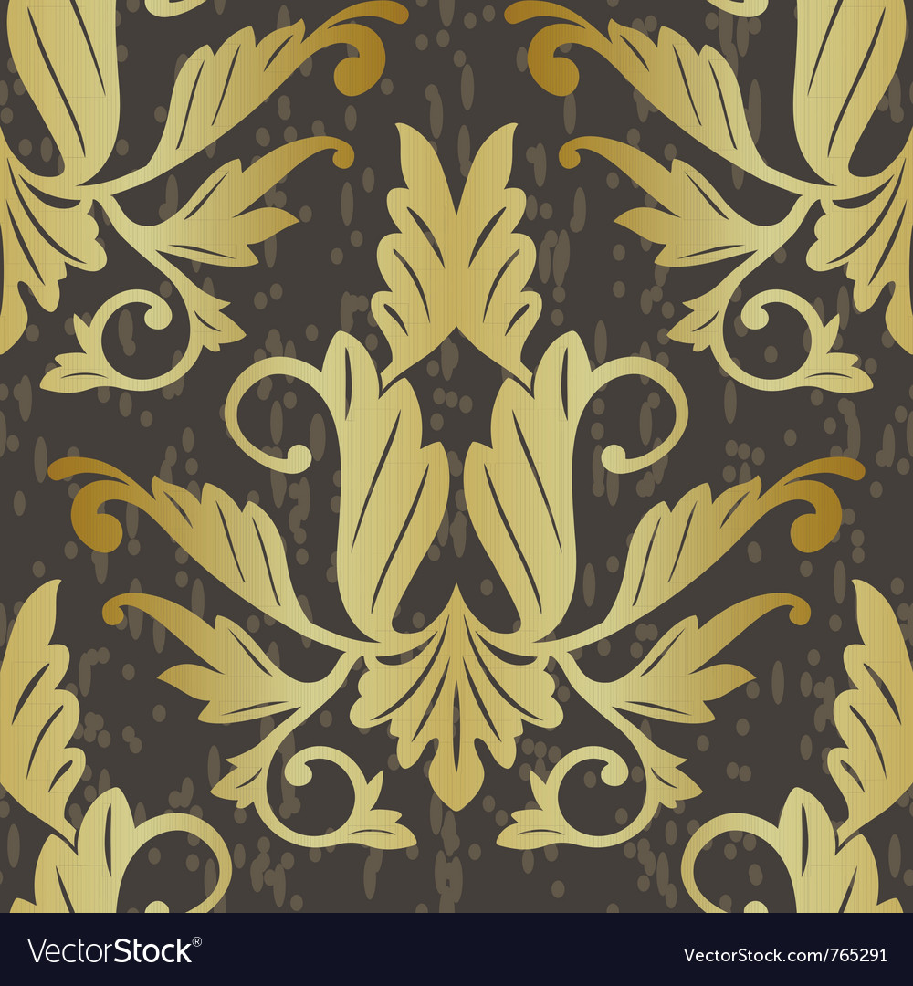 Old floral seamless pattern vector