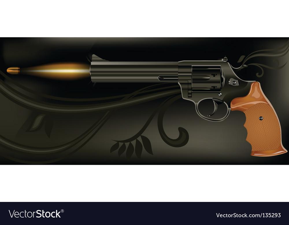 Shooting gun vector