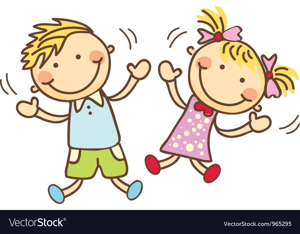Cute cartoon children vector