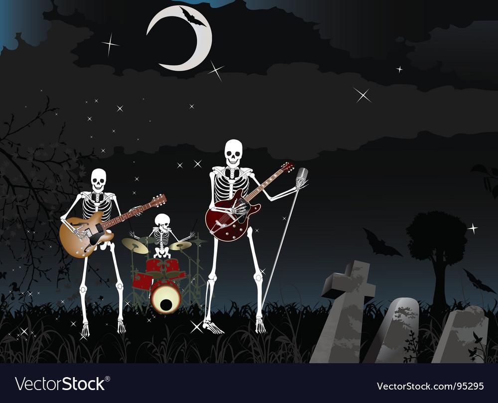 Skeleton band vector