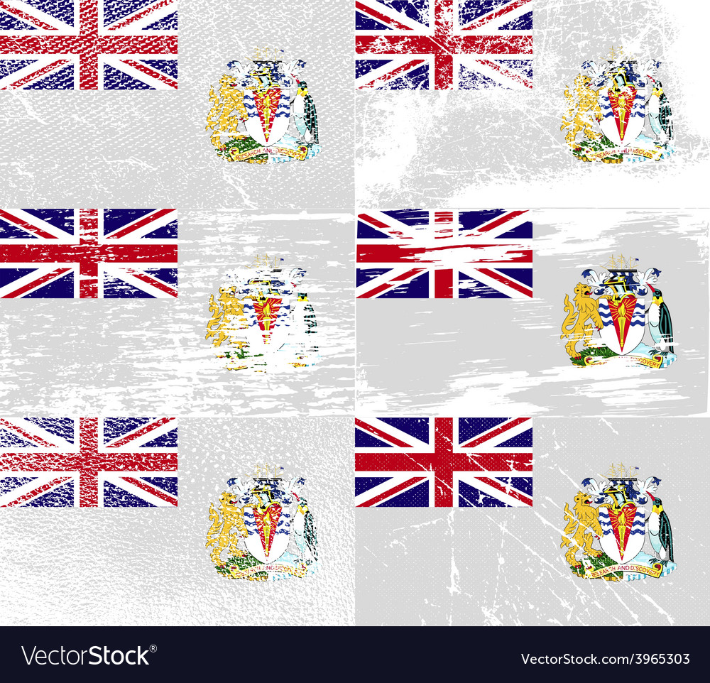 Flag of british antarctic territory with old vector
