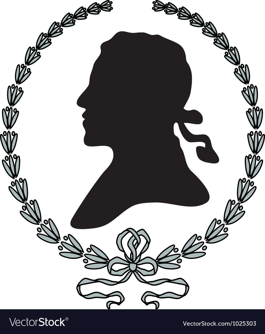 Laurel wreath with man silhouette vector