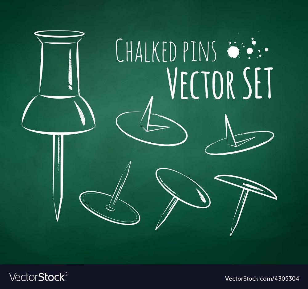 Chalkboard drawing vector