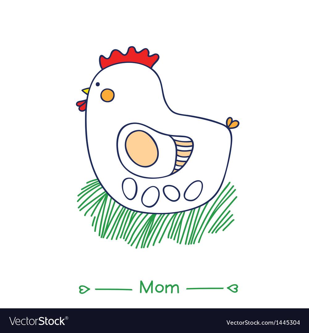 Mom hen vector