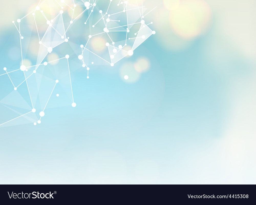 Abstract blue science background vector