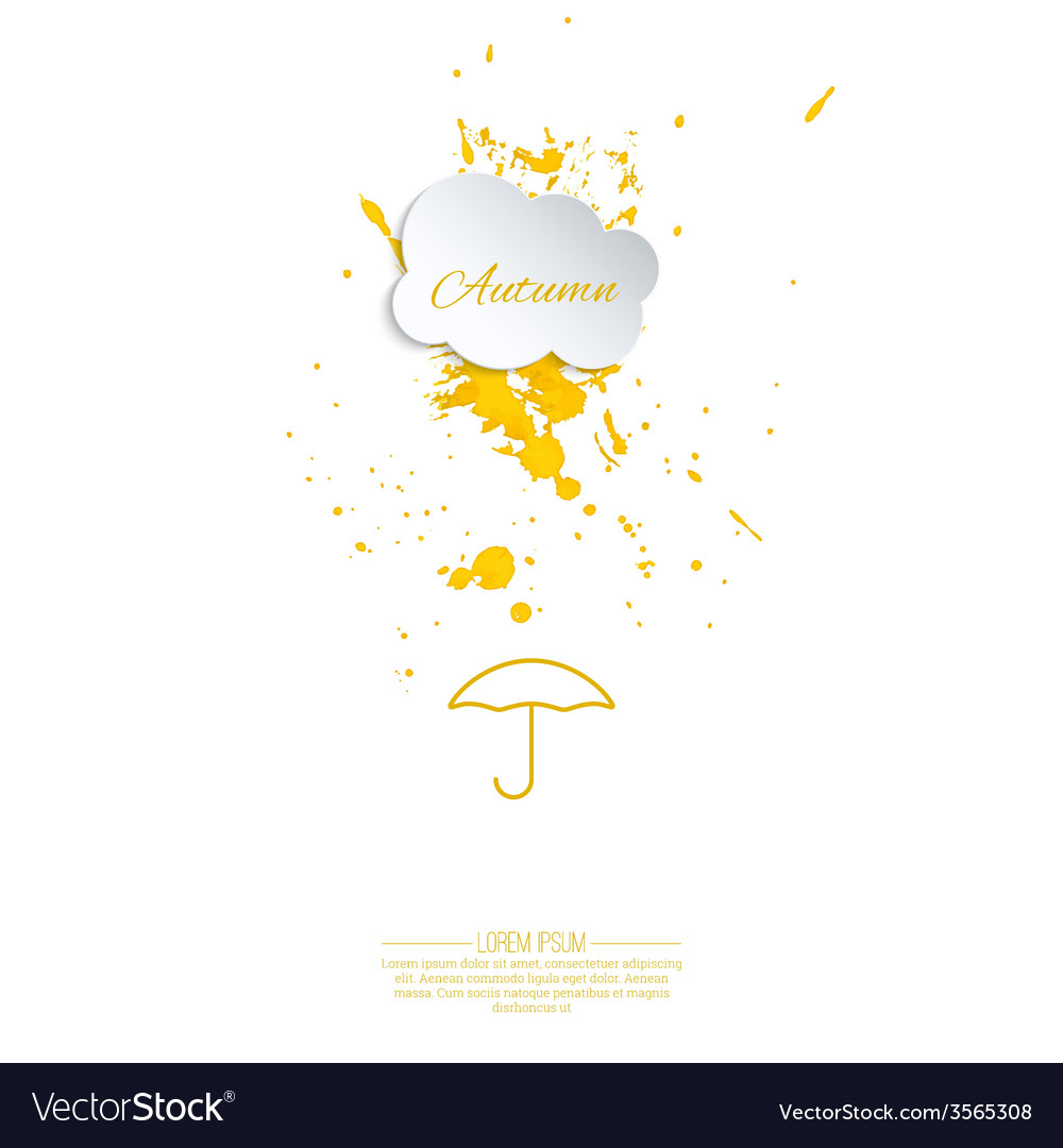 Ink splatter with small drops vector
