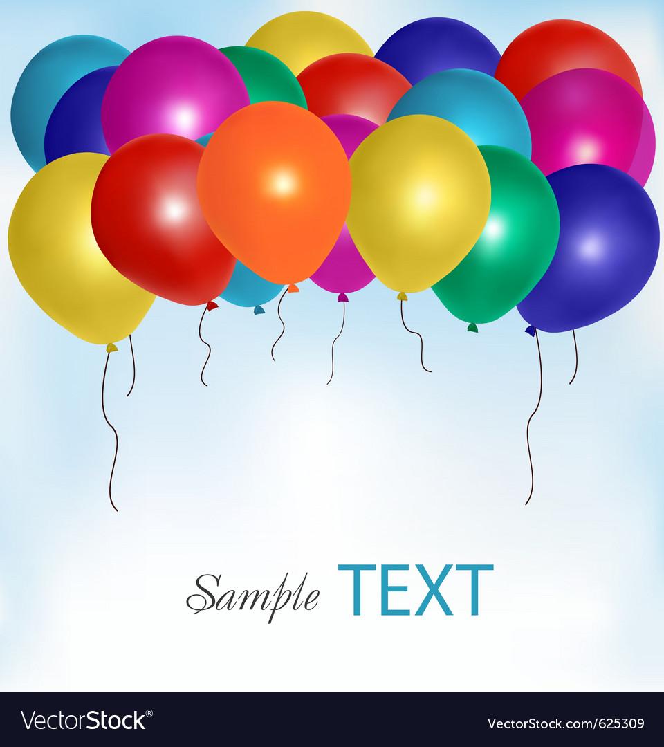 Balloons frame composition vector
