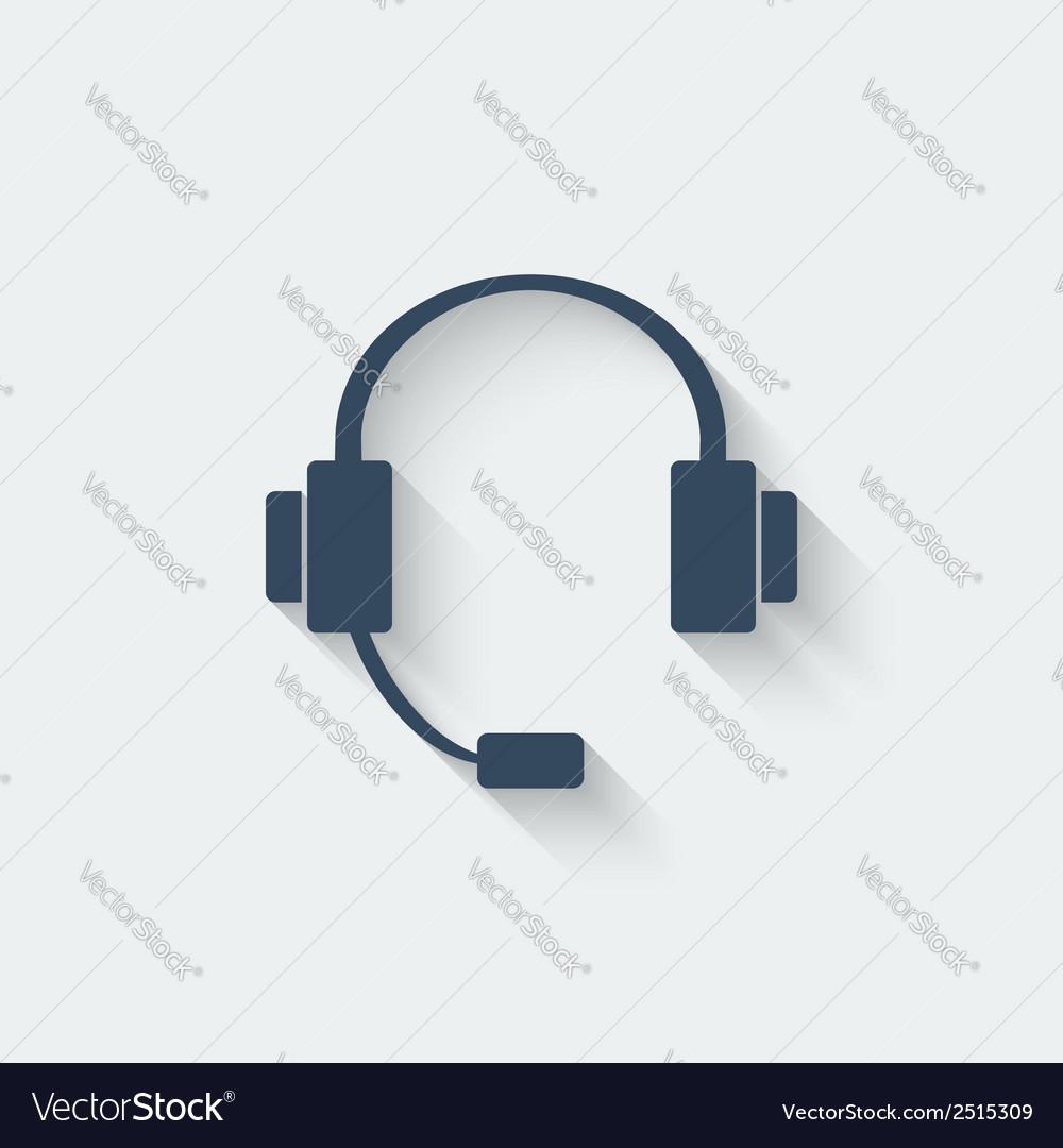 Headphone design element vector