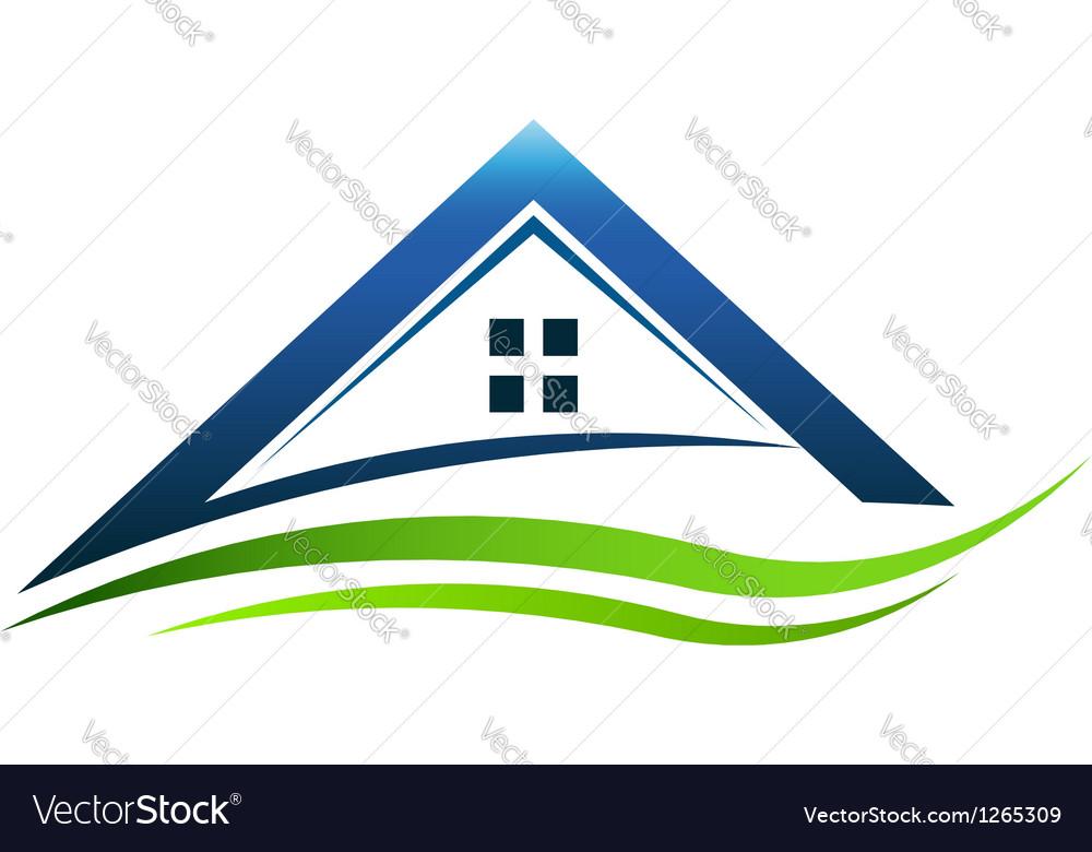House green sign vector
