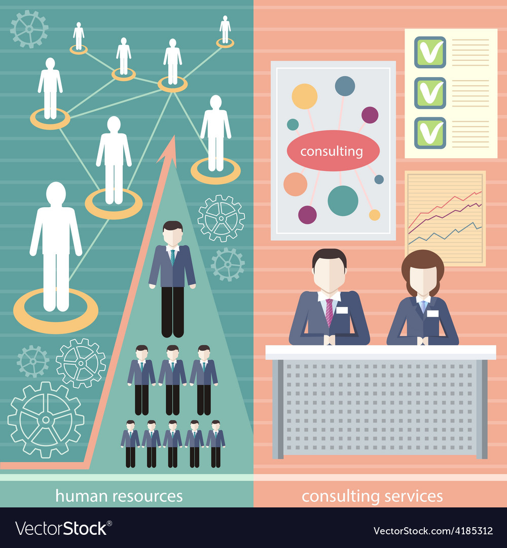 Human resource consulting services vector