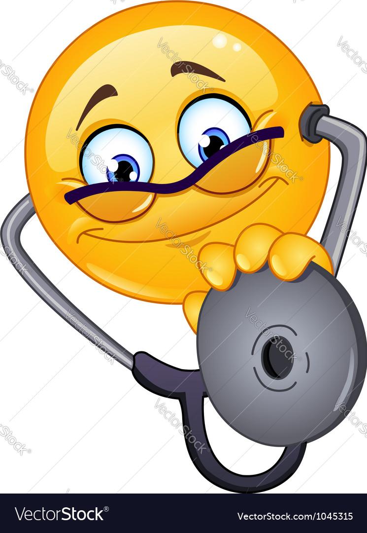 Doctor emoticon vector
