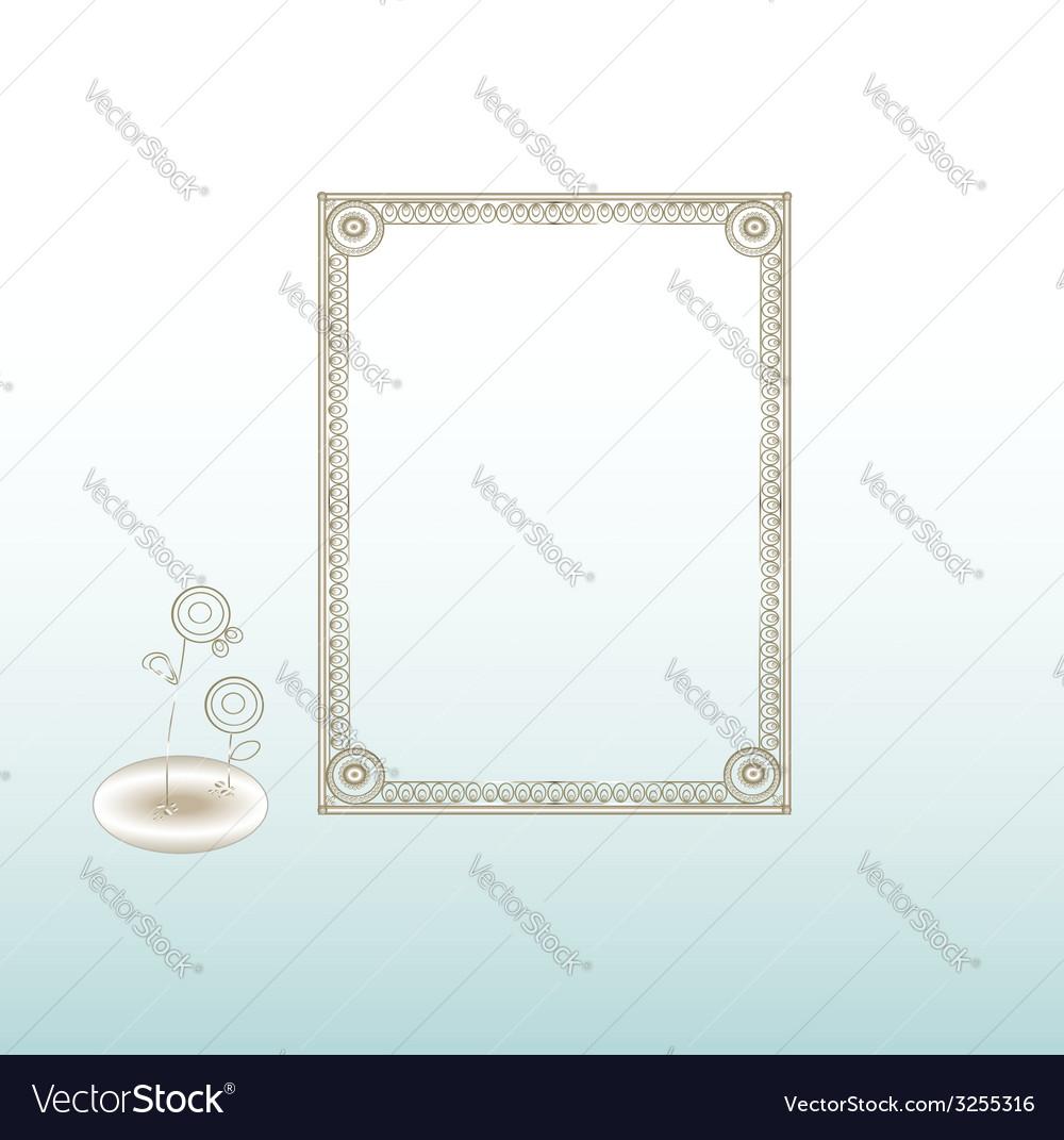 Vintage frame silver vector