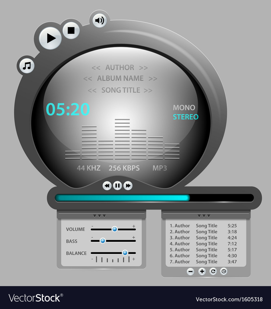 Audio player gadget vector