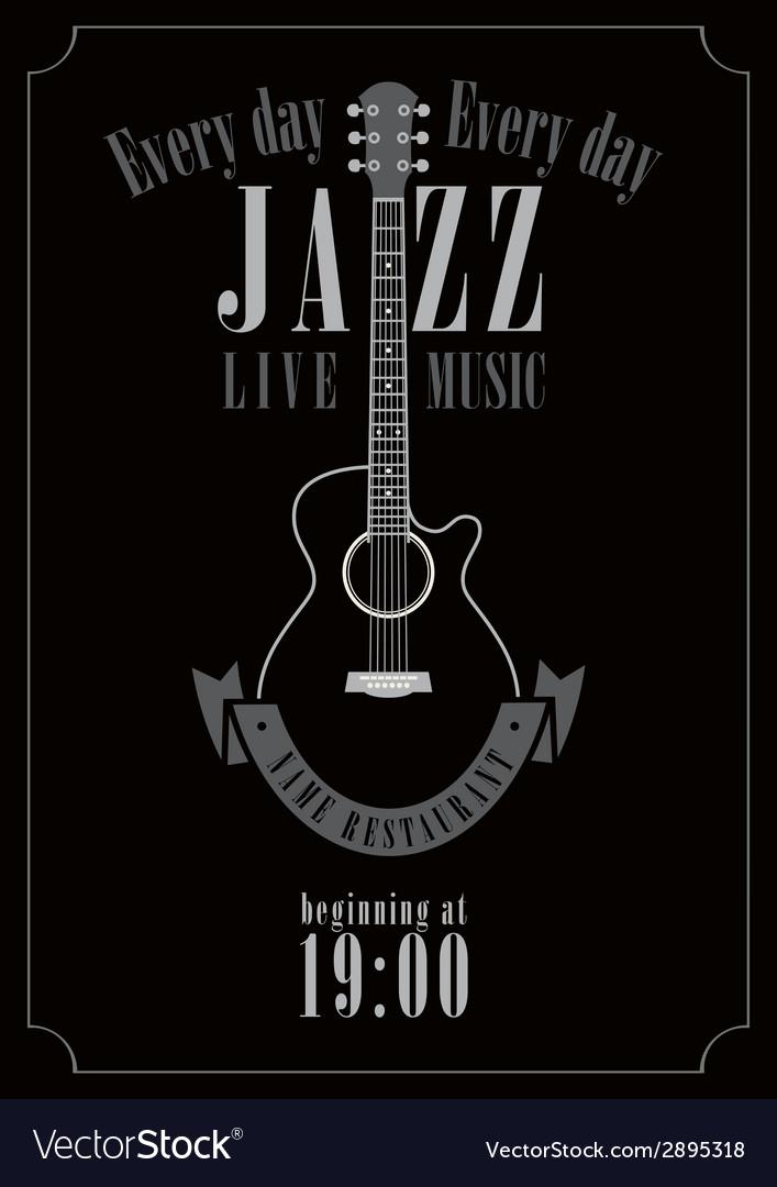 Jazz music vector