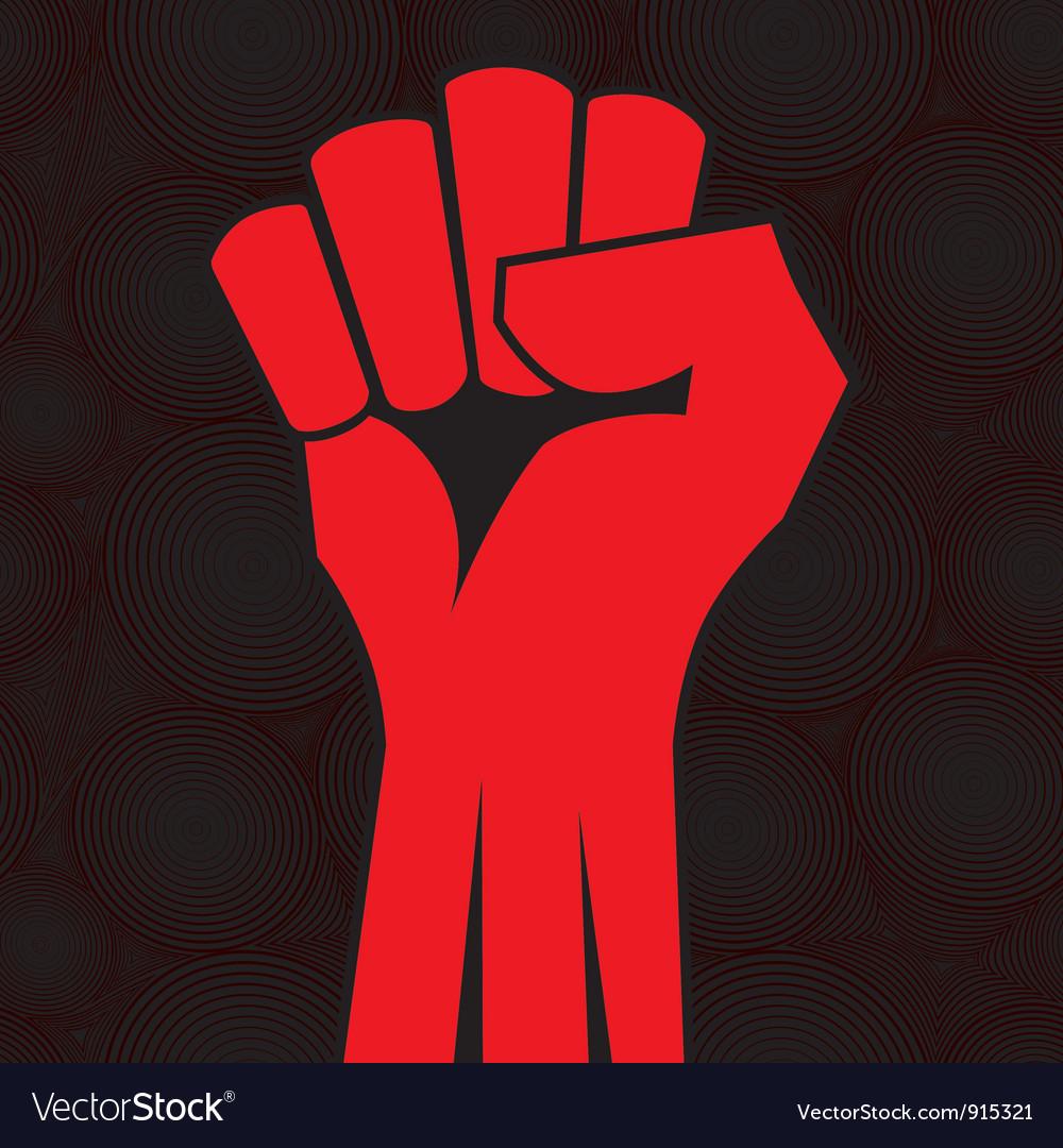 Fist roun sea vector