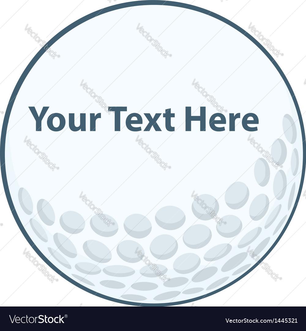 Golf ball sign vector
