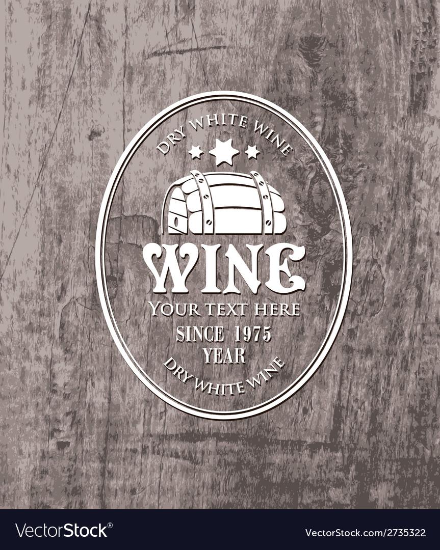 Barrel wine vector