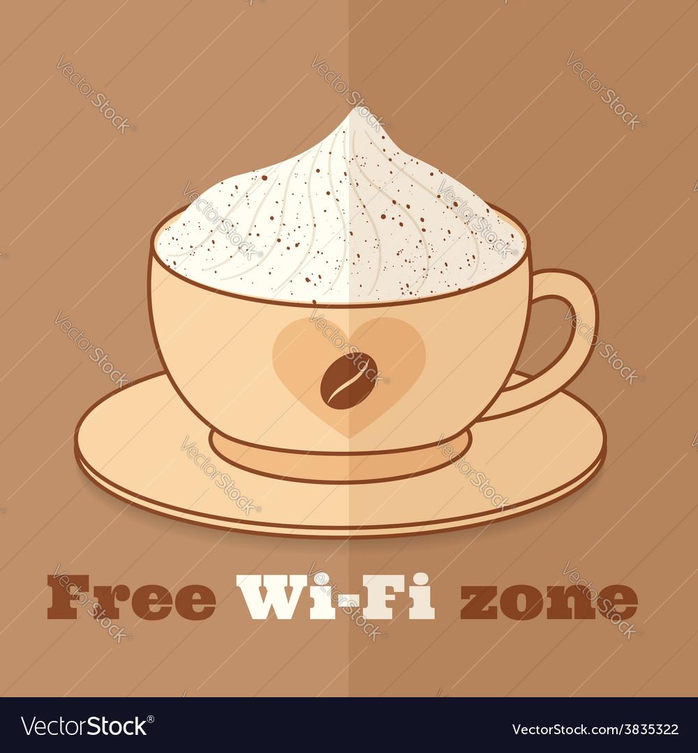 Free wifi zone vector