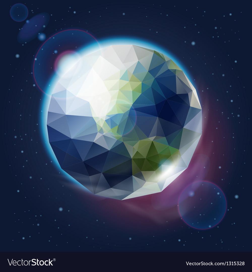 Earth globe as an icon vector