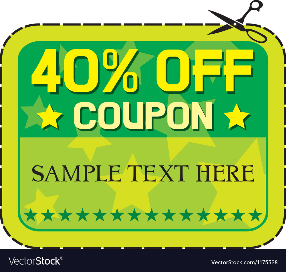 Forty percent discount vector