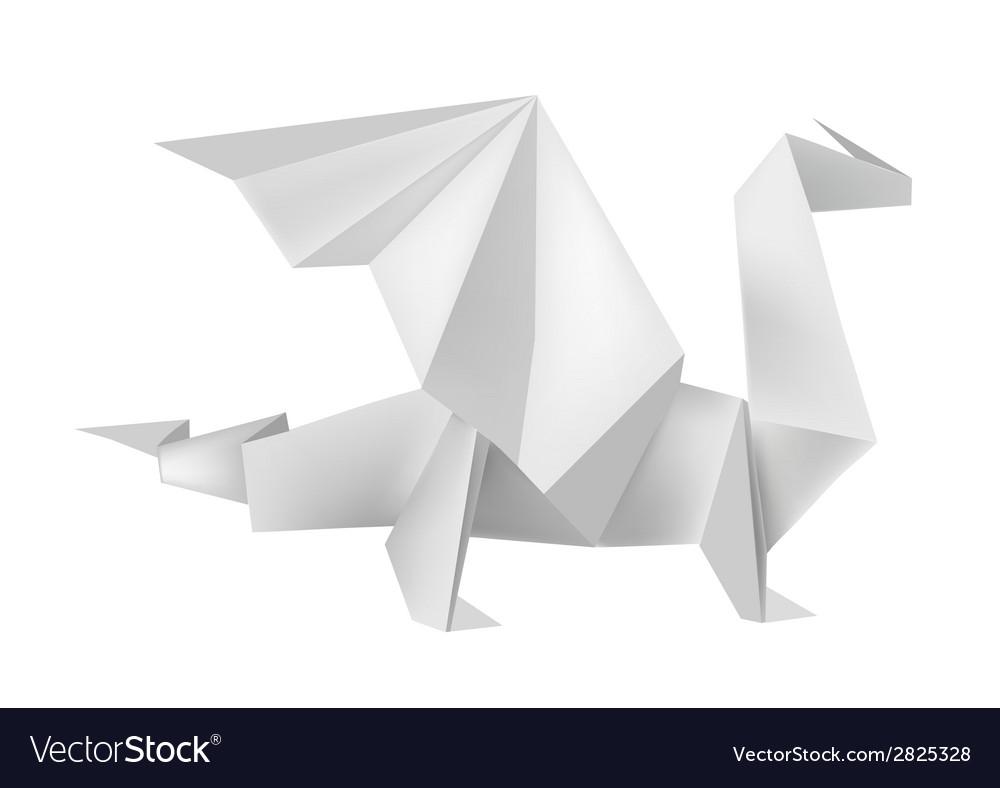 Origami dragon vector