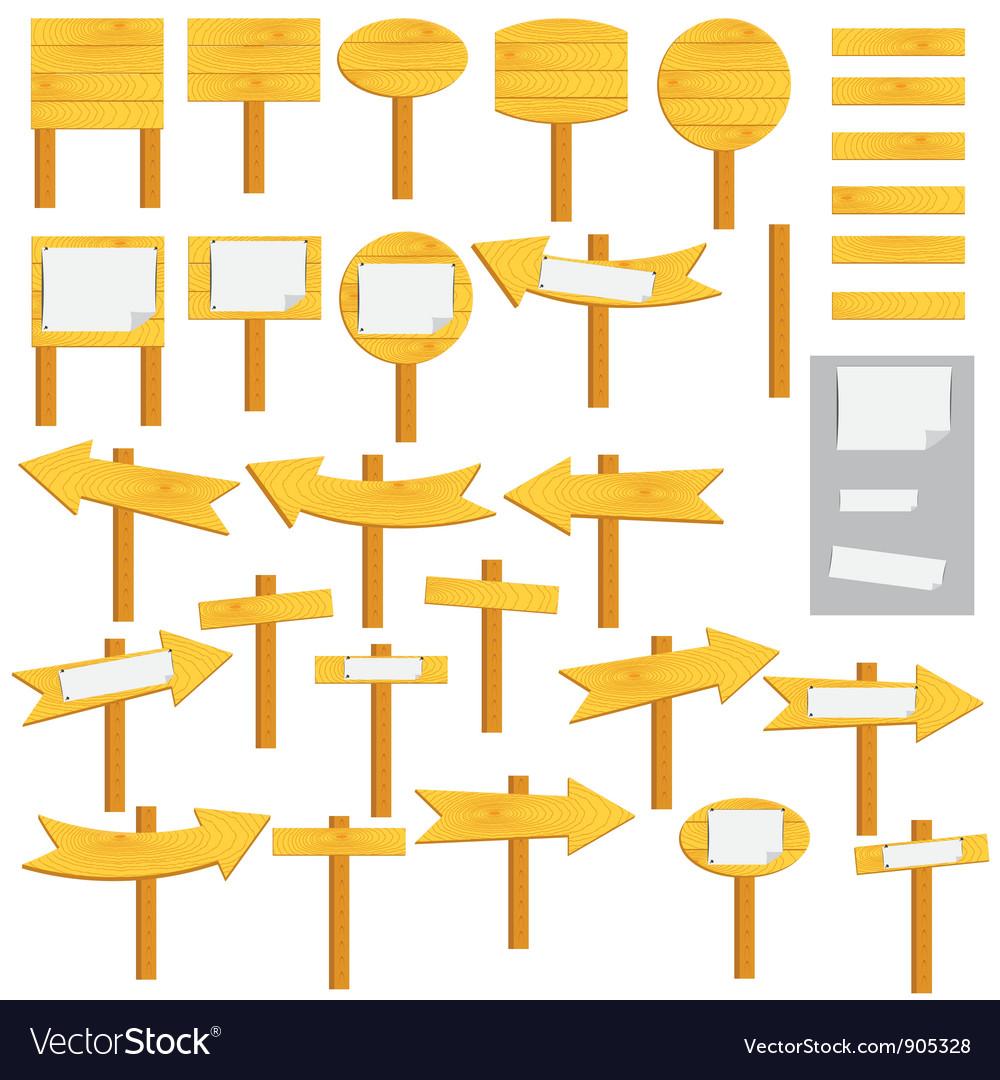 Sign posts vector
